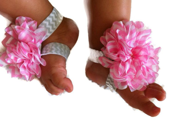 Pink Chevron Shoe,Baby Barefoot Sandals, Chic Little Feet,Baby Chevron Shoes,Pink Chevron Baby Shoe,Grey Chevron,Pink Shoe,Pink Grey Chevron by ChicLittleFeet on Etsy https://www.etsy.com/listing/168855053/pink-chevron-shoebaby-barefoot-sandals