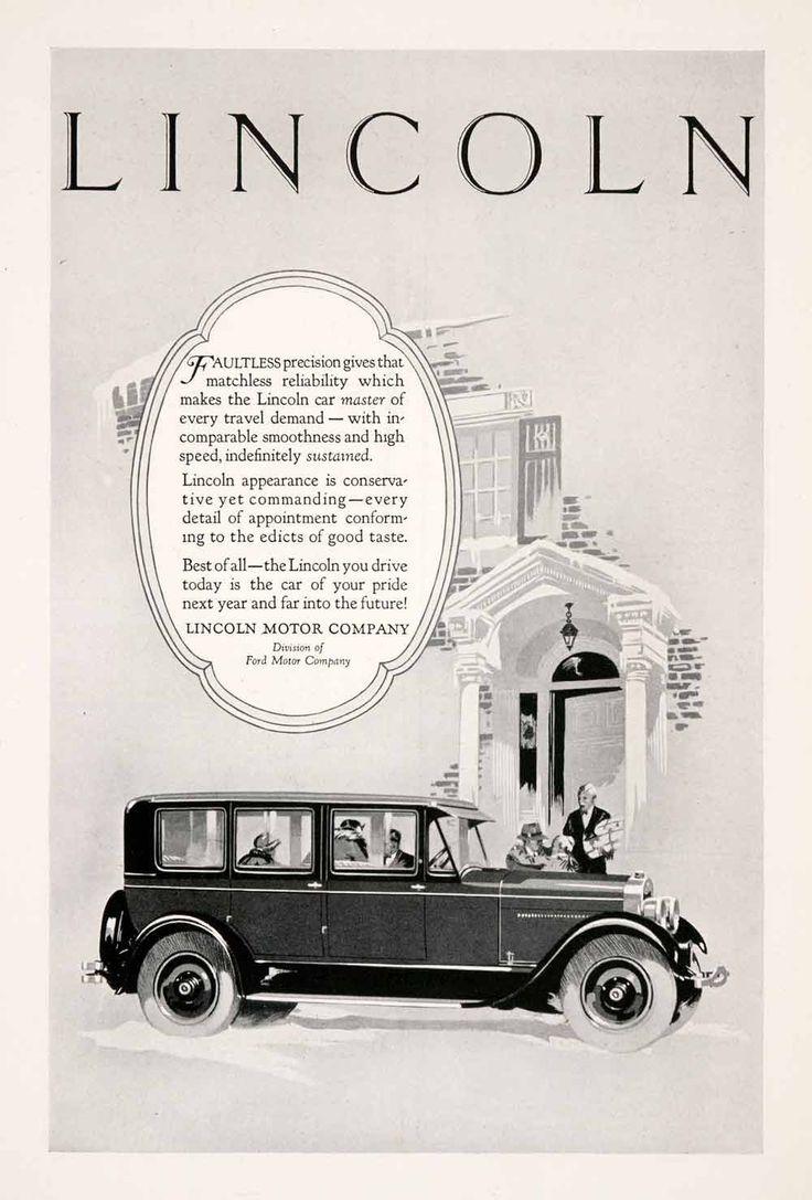72 best lincoln vintage ads images on pinterest vintage for Lincoln motor car company