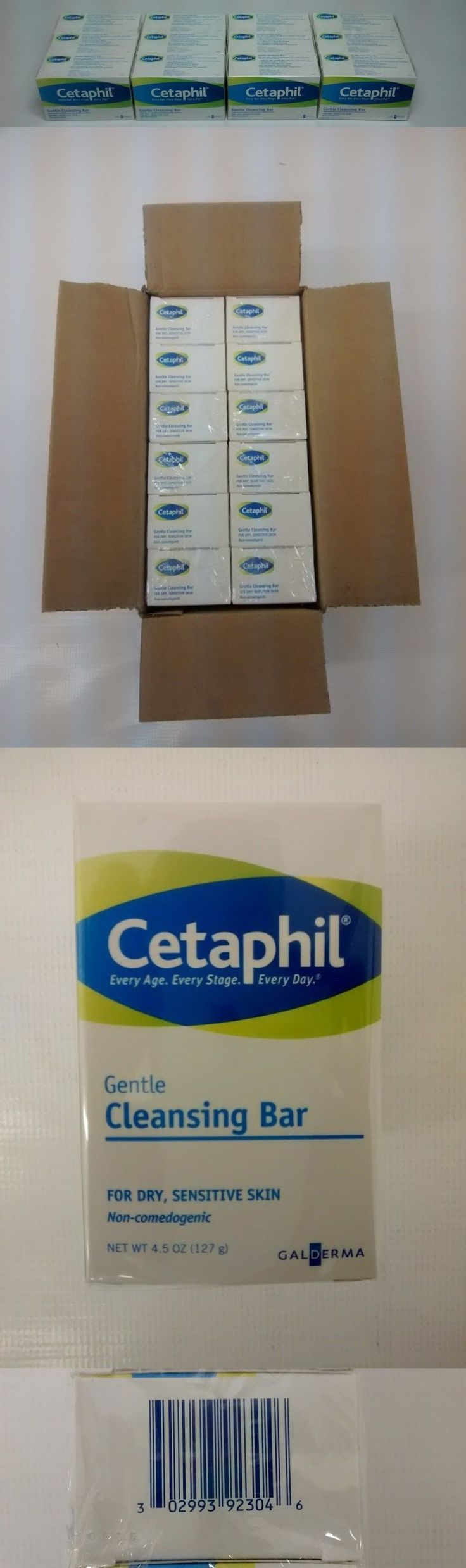 Bar Soaps: 12 Pack, Cetaphil Gentle Cleansing Soap Bar 4.5 Oz -> BUY IT NOW ONLY: $48.99 on eBay!