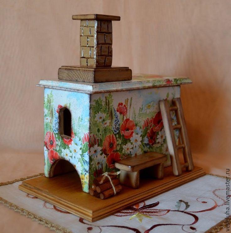 Купить Печь...для чайных пакетиков - разноцветный, печь, печка, чайный домик, чайная коробка