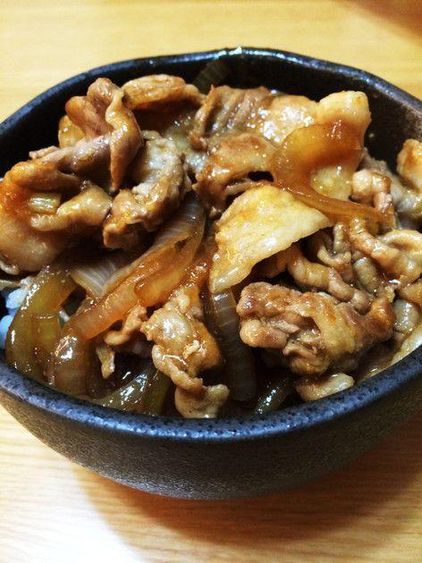 豚丼【フライパン】速攻レシピ by ユルゲン [クックパッド] 簡単おいしいみんなのレシピが226万品