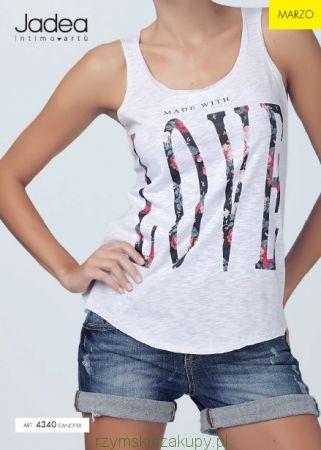 Koszulka Jadea   na ramiączka z napisem