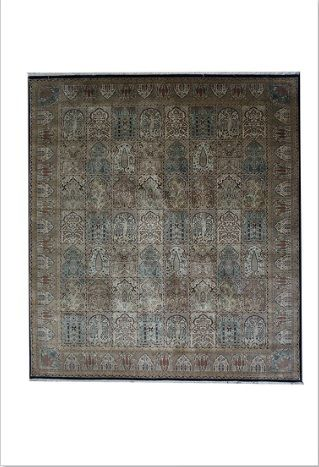 Garden Panel Design  Superbly knotted with exceptional grade New Zealand wool pile, design lightly accented with Silk. Classical Persian Garden Panel design.  #rugsclearance #melbournerugs #rugsonline