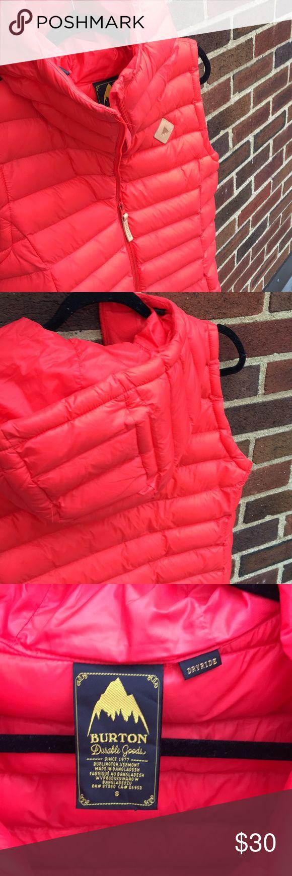Burton orange ski vest Burton durable goods orange ski vest in great condition size small. Burton Jackets & Coats Vests