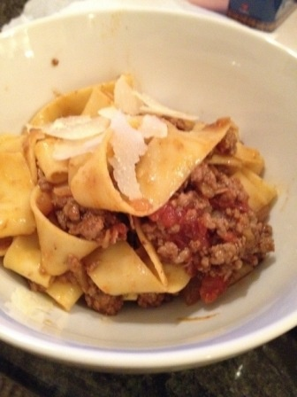 pappardelle with beef and beer bolognese | Beef, Beer and Pasta