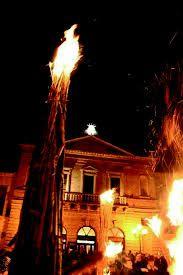 Christmas Time in Atri begins with the  FAUGNI night.   Atri nel Teramo, Abruzzo