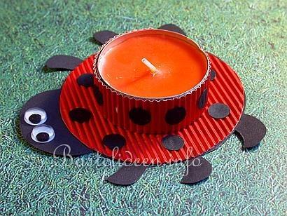 Marienkäfer Teelichthalter
