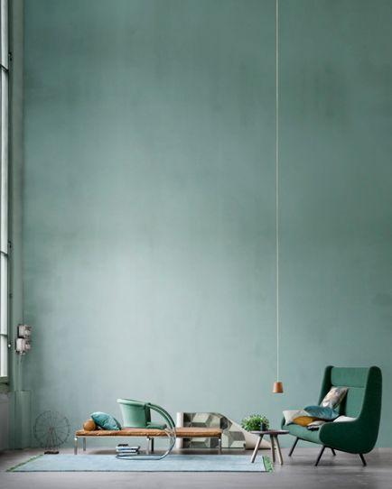 Kleur uit Eigenwijs, zachtere versie zit in Romantisch Blueish green, lovely!