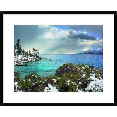 """Global Gallery Memorial Point, Lake Tahoe, Nevada by Tim Fitzharris Framed Photographic Print Size: 24"""" H x 30"""" W x 1.5"""" D"""