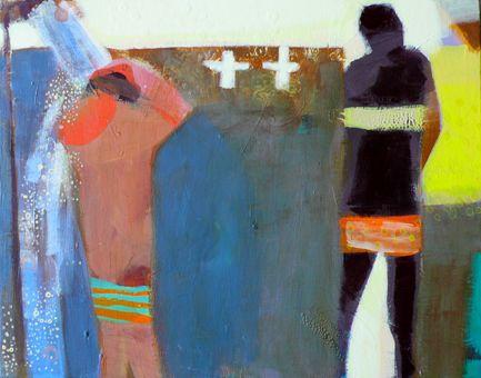 becky blair * artist - paintings: beach shower