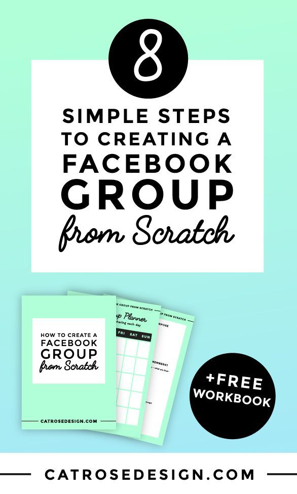 This post (and free workbook!) guide you through the steps to create a super engaged Facebook group. Click to read now or PIN for later!