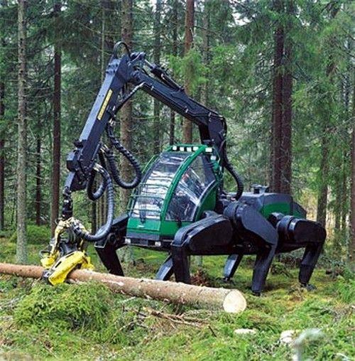Future Vehicle, John Deere Walking Tractor Prototype (+VIDEO), Plustech, Robot, Timberjack's Total Machine Control system (TMC), Finland