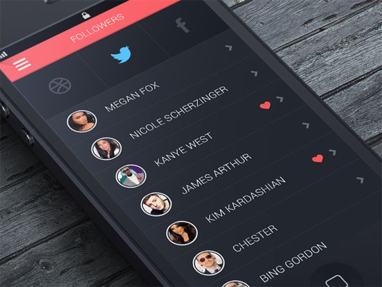 Social App UI by Pierre Borodin. 30 Beautiful Mobile UI Examples. #mobile #UI #design #inspiration