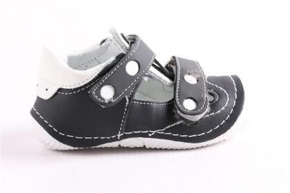 Pepee Erkek Çocuk Siyah Hakiki Deri Phaylon Taban Ortopedik İlk Adım Bebe Ayakkabı