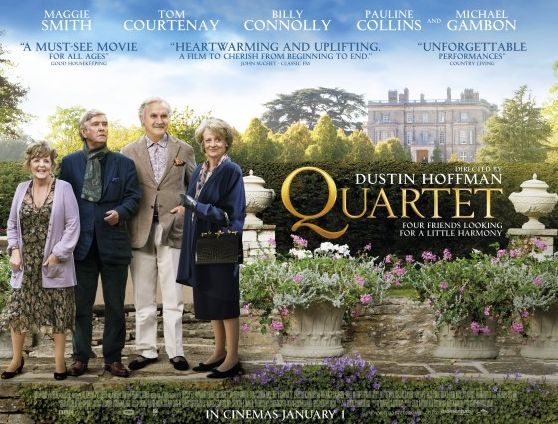 Quartet 2012 directed by Dustin Hoffman starring Maggie Smith Billy Connolly Pauline Collins and Tom Courtenay