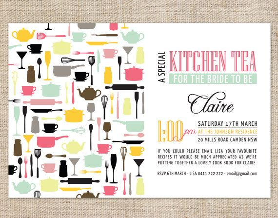 pinterest kitchen tea invitations tea party invitations and