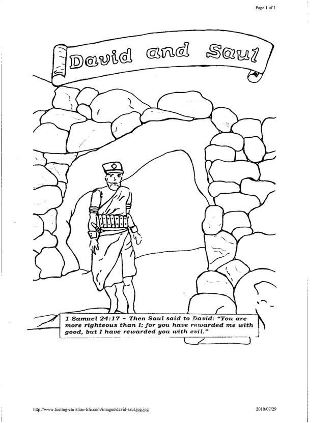 Cave Coloring Davidnd Pages Saul 2020 With Images David