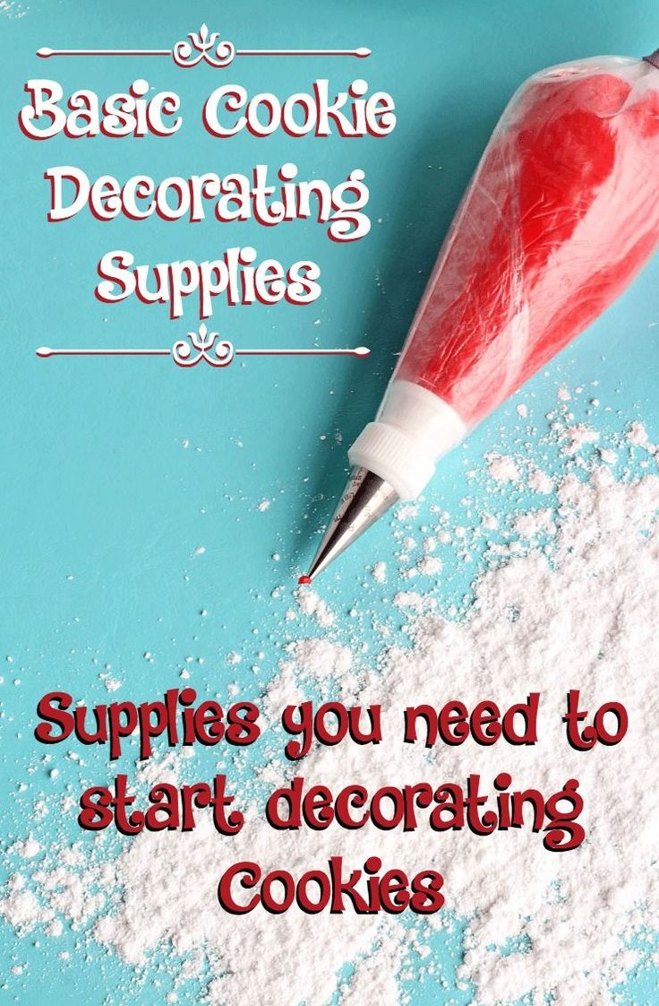 You only need a few Basic Cookie Decorating Supplies to start decorating cookies. I have complied a list of things you need to start decorating like a pro.