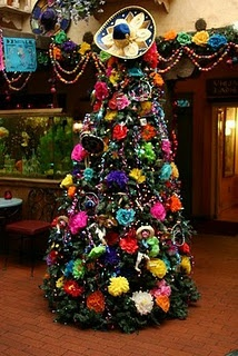 Christmas tree at La Posta Restaurant in La Mesilla, New Mexico...