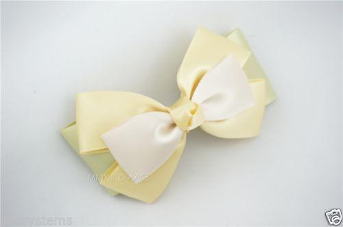 1 Alligator Clip Charming Handmade Satin Hair Bow Women Elegant Bowknot Free S&H