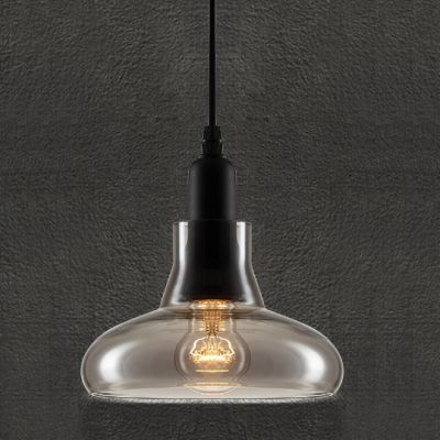 Buy 20CM Smoke Grey Vintage Industrial LOFT Glass Pendant with Lowest Price and Top Service!
