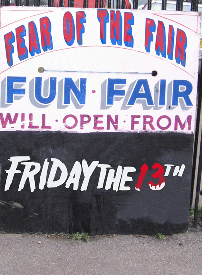 Horror Film Festival located in a abandoned fairground. #Posters #Program