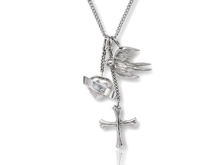 Glaube, Liebe, Hoffnung, Anhänger aus Silber mit Panzerkette, Geschenk für Frauen, maritimer Schmuck von Trendklunker auf Etsy