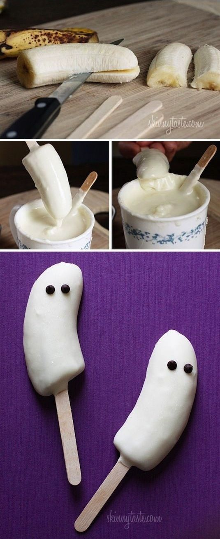 bananes fantome halloween