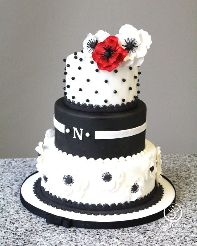 Wedding Cake by Nicole Casey made as part of The French Pastry School's L'Art du Gâteau program.