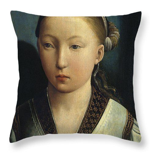 La Infanta Catalina De Aragón Throw Pillow con la pintura Reina De Inglaterra por MotionAge Designs