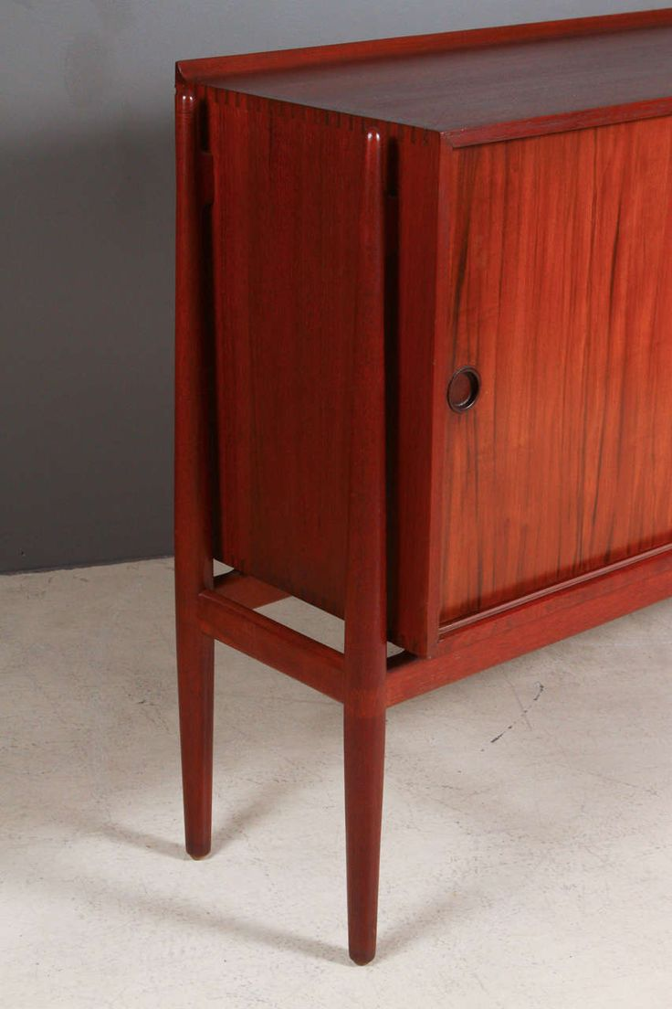 Finn Juhl Designed Teak Cabinet Made by Neils Vodder | From a unique collection of antique and modern cabinets at https://www.1stdibs.com/furniture/storage-case-pieces/cabinets/