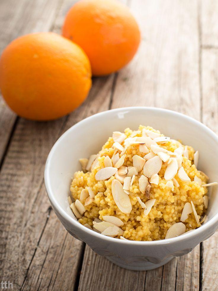 true taste hunters - kuchnia wegańska: Pomarańczowa kasza jaglana z migdałami (wegańskie, bezglutenowe, bez cukru)