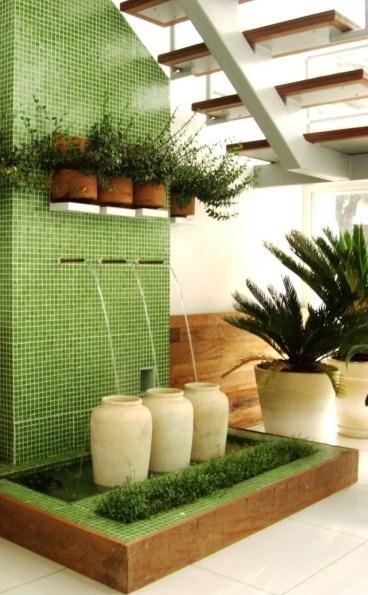 A tradicional fonte de jardim em uma versão moderna,perfeita para apartamentos.Crie a sua!