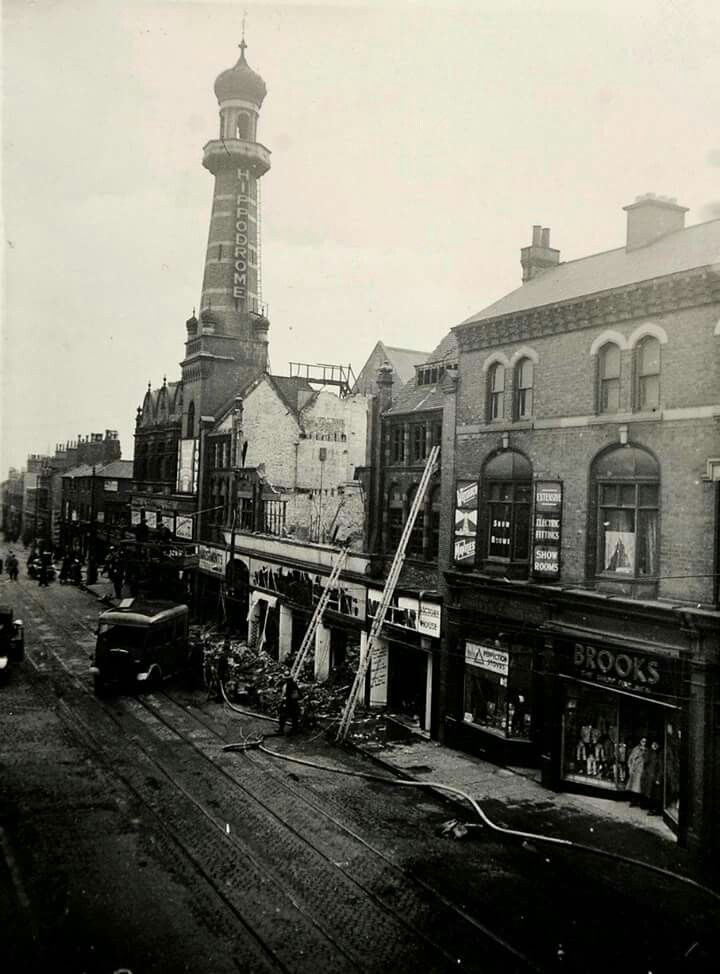 Hurst street 1940s , day after air raid