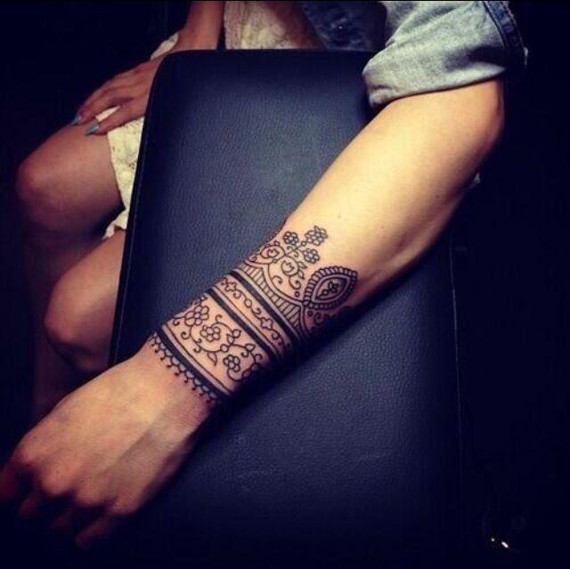 Ethnic-inspired wrist tattoos