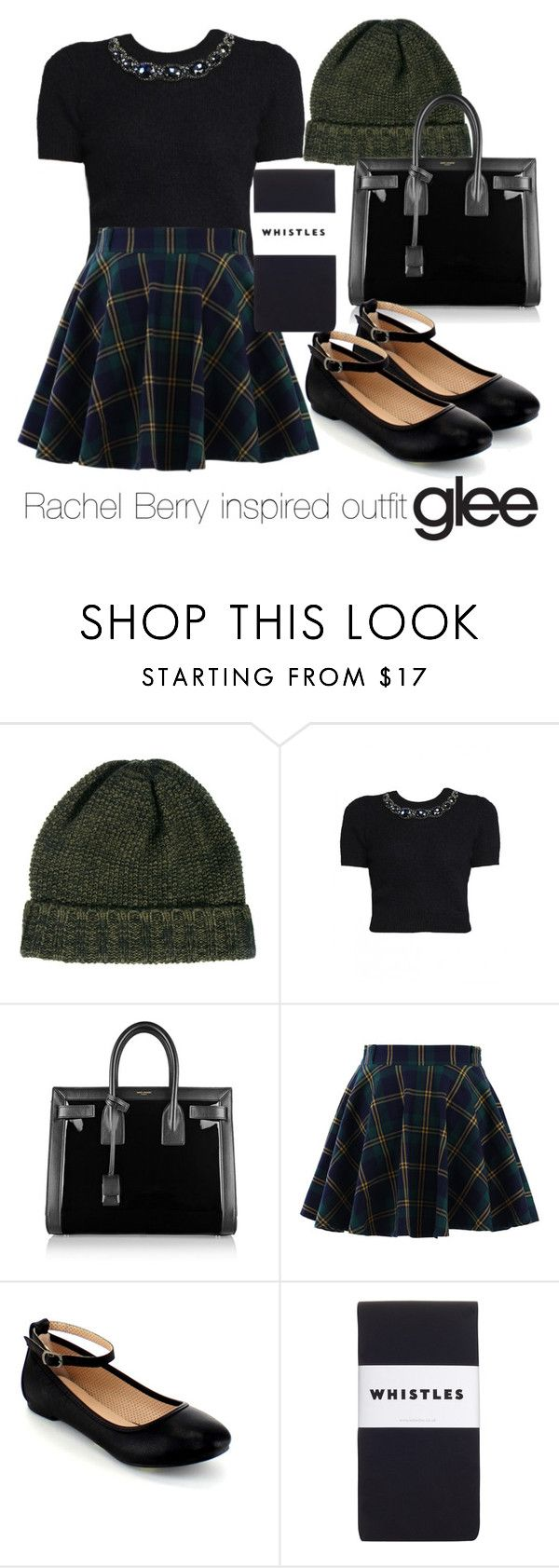 """Rachel Berry inspired outfit/Glee"" by tvdsarahmichele ❤ liked on Polyvore featuring SELECTED, Matthew Williamson, Yves Saint Laurent, Chicwish and Whistles"