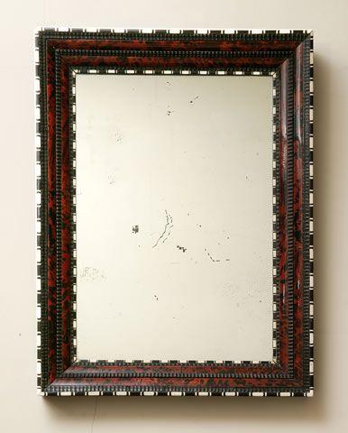 Antwerp tortoiseshell mantel mirror  Miroir Anversois en écaille, ébène et ivoire - Antwerpse spiegel in ebbenhout, schildpadschelp en ivoor.    Ebony, tortoiseshell and ivory.    17th century.