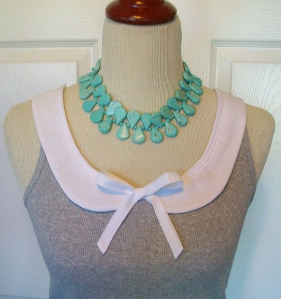 Embellished Scalloped Peter Pan Collar Tank Top with Bow