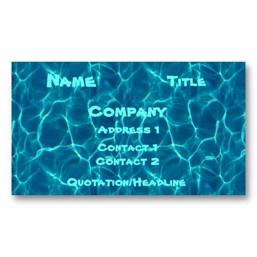 16 best images about swimming pool business cards on for Pool business cards