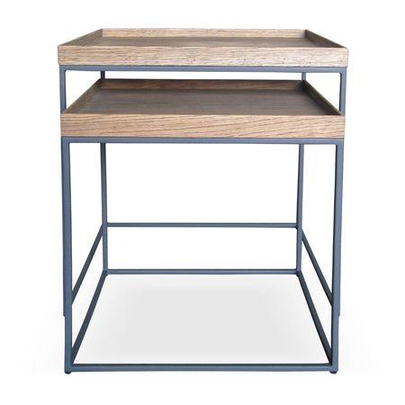 Nesting Tray Tables With 40mm Oak Veneer Tray Tops