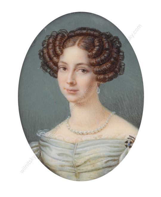 Elisabeth Ludovika of Bavaria, future Queen of Prussia, at the age of 22. It was painted shortly before her marriage to the future King Friedrich Wilhelm IV.
