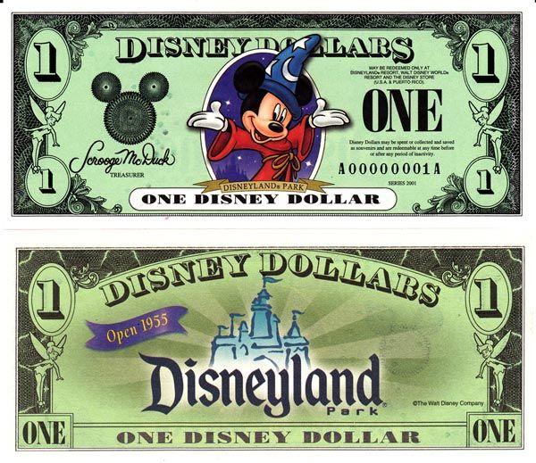 DisneyDollars.net: 2001 Disney Dollars