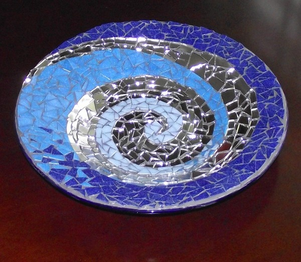 mosaic mirror plate