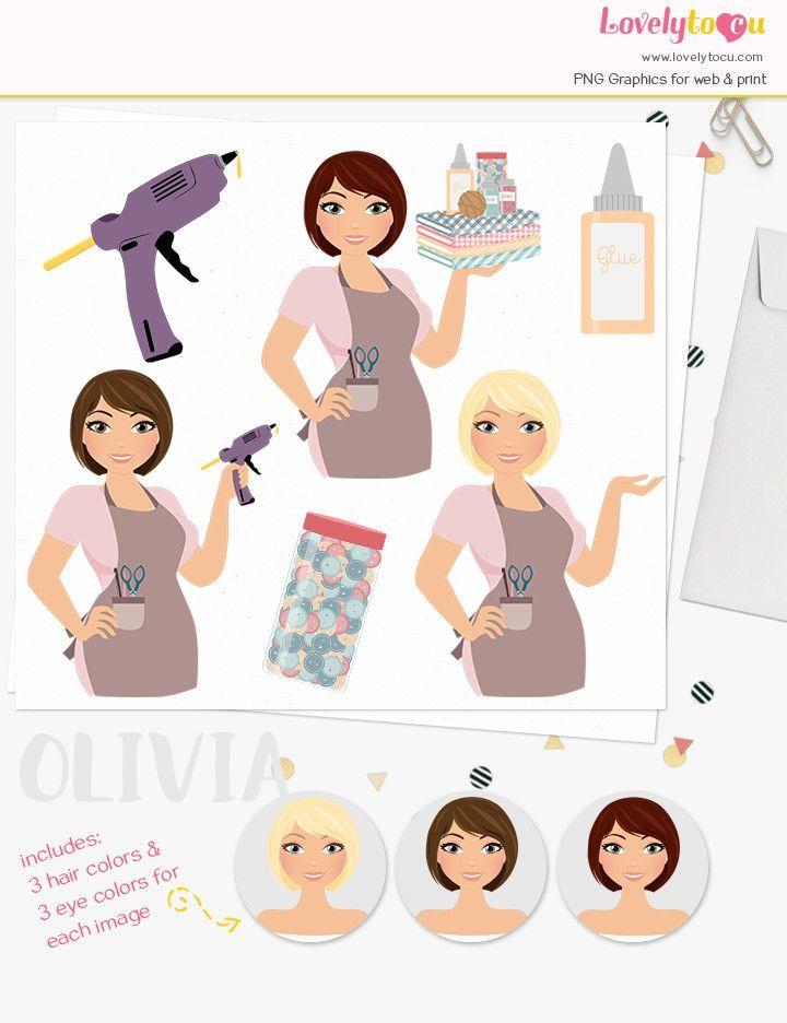 female character clipart designs from lovelytocu woman logo avatar rh pinterest com