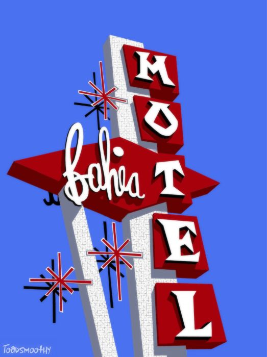 Bahia motel Googie sign 1 by ~Go-Retro on deviantART