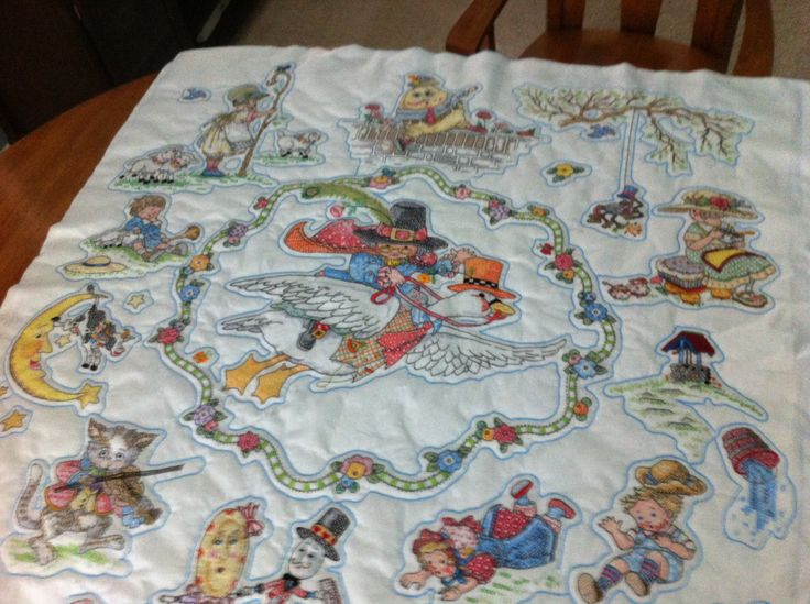 Mother Goose Baby Quilt - 4 x4 Cross Stitch Pinterest Babies, Mothers and Baby quilts