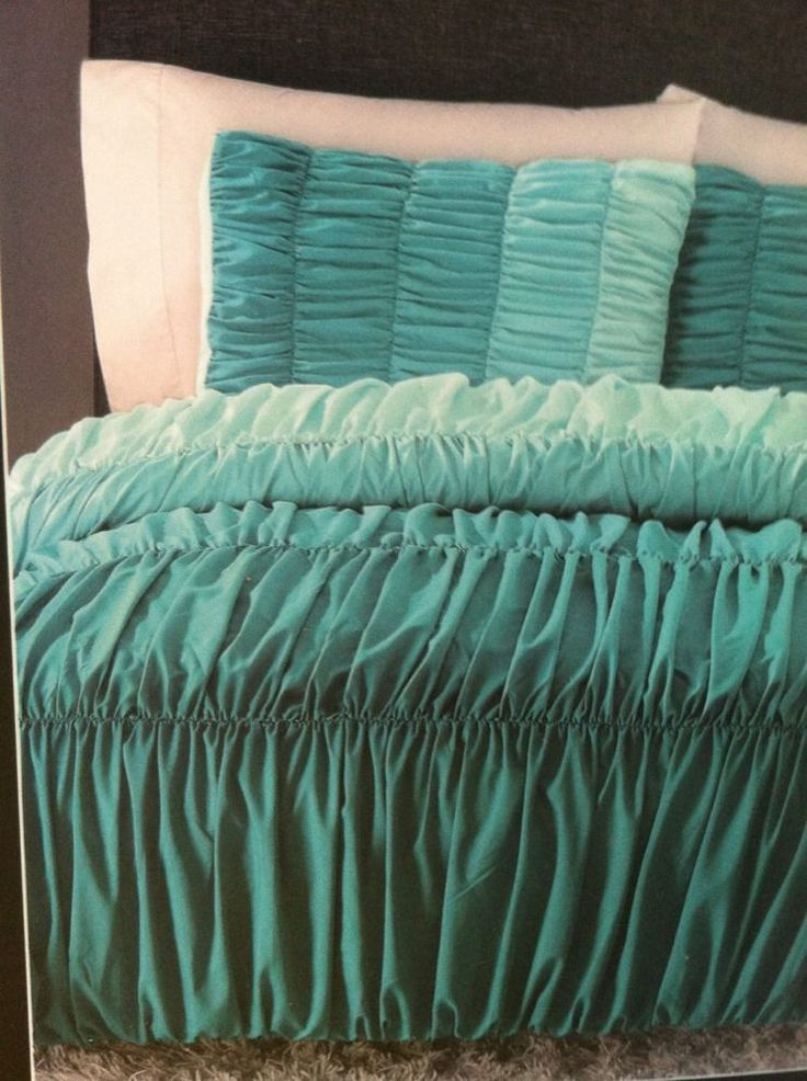Cynthia rowley ombre ruched duvet comforter set twin xl for Cynthia rowley bedding