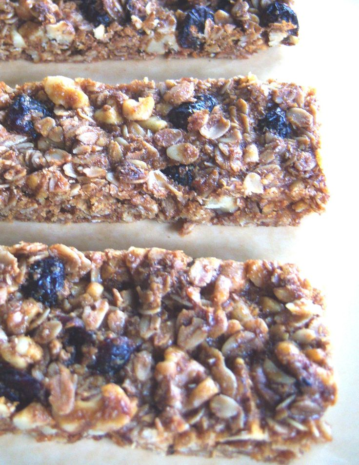 Gluten Free Homemade Granola Bar Recipe | Food | Pinterest