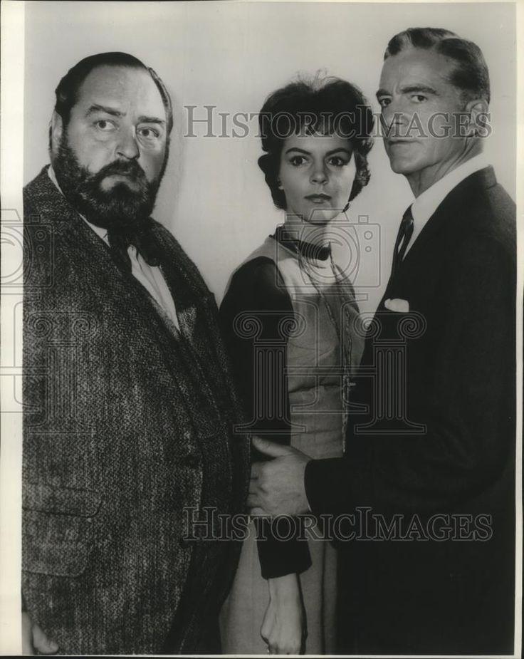 1962 Press Photo Sebastian Cabot, Carolyn Craig & Dana Andrews in Checkmate