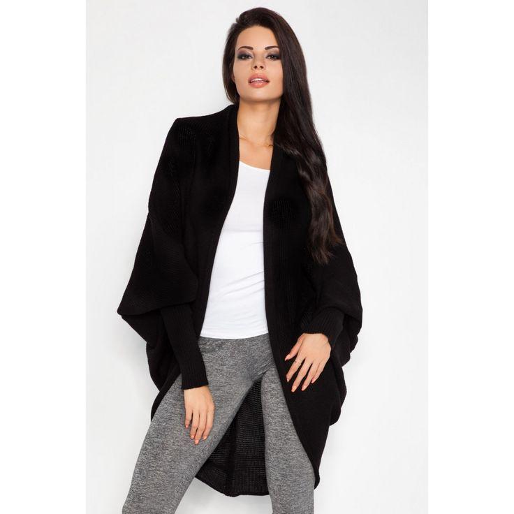 Cardigan negru cu maneca lunga  #cardiganedama #cardigantricotat #cardigan #cardiganeoffice